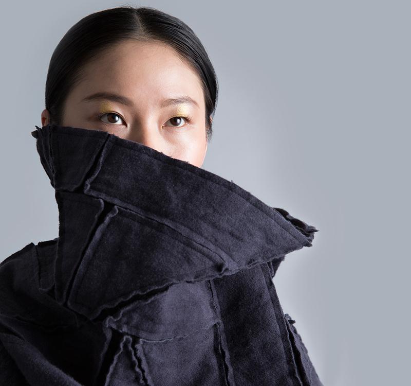 Amy Nguyen Textiles - Kintsugi - Heavy Wool Wrap Coat