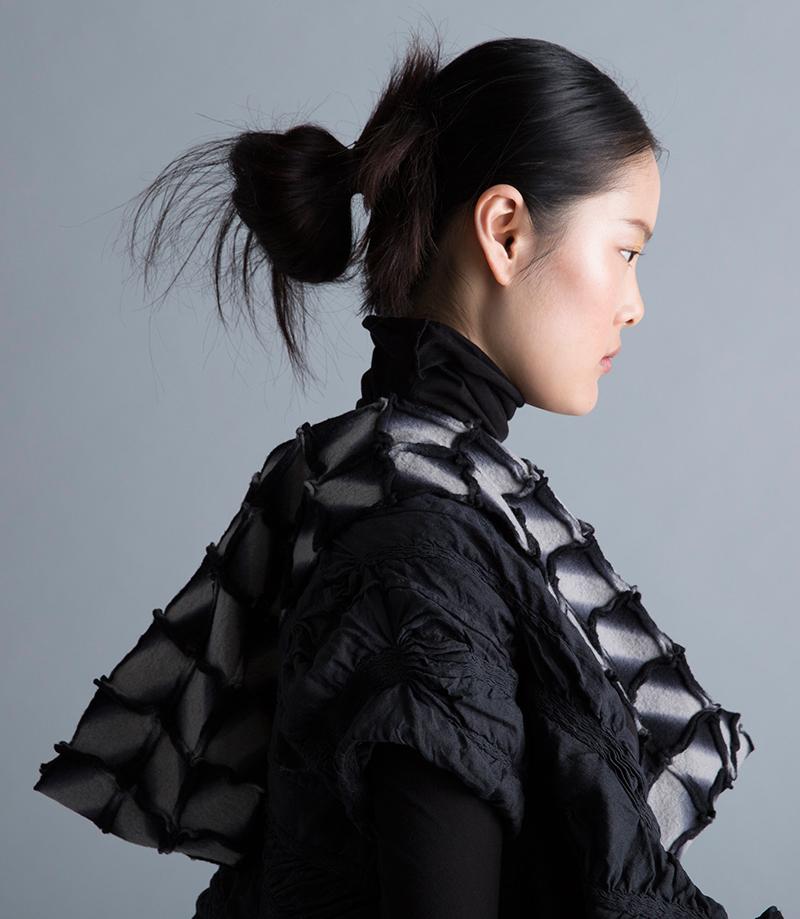 Amy Nguyen Textiles - Kintsugi - Long Enso Scarf