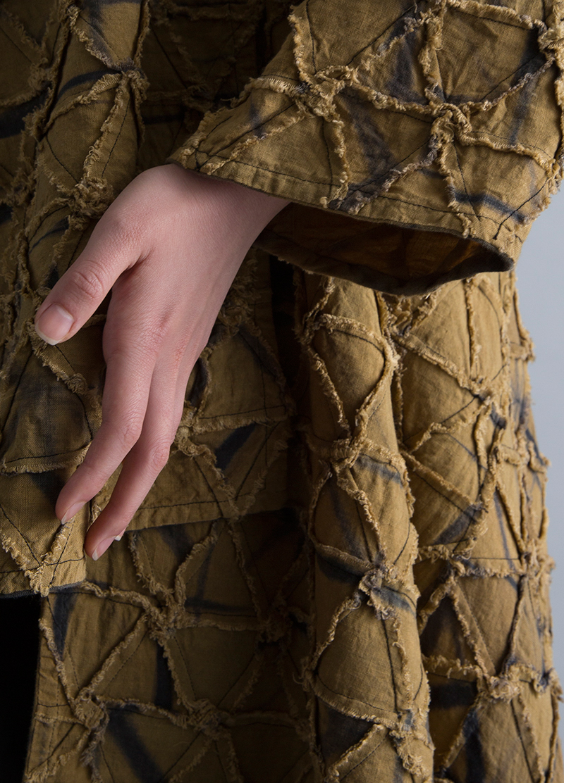 Amy Nguyen Textiles - Kintsugi - Long Wrap Coat without Collar