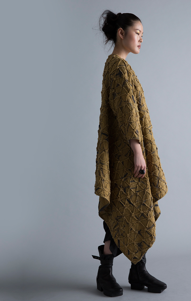 Amy Nguyen Textiles - Kintsugi - Long Wrap Coat without Collar