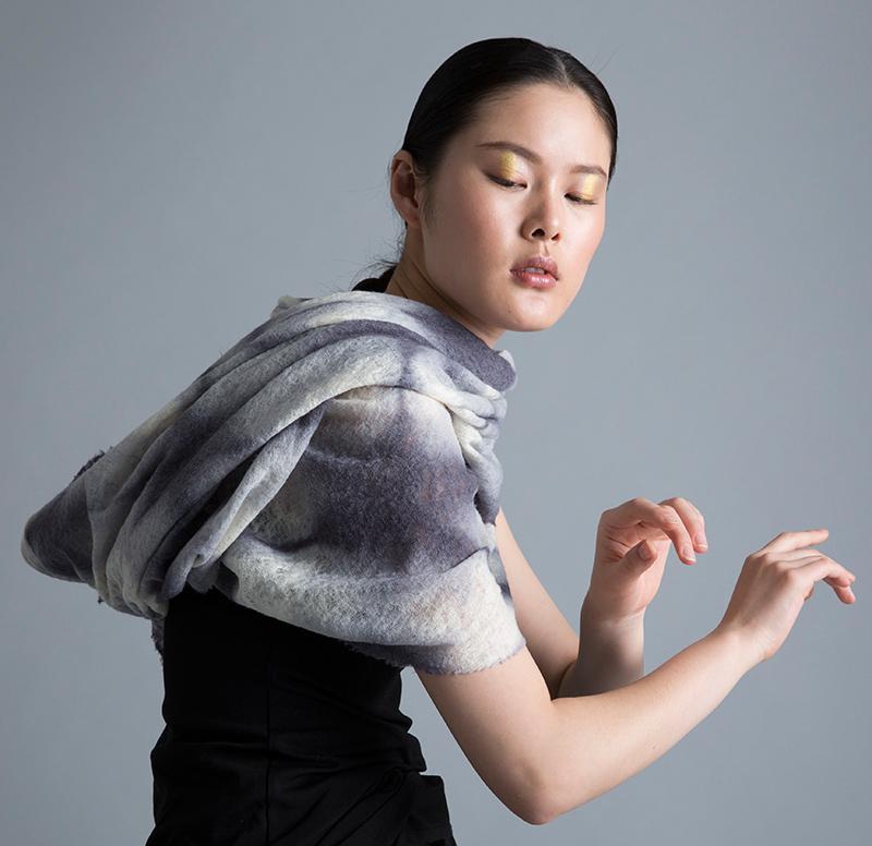 Amy Nguyen Textiles - Kintsugi - Fine Wool Scarf