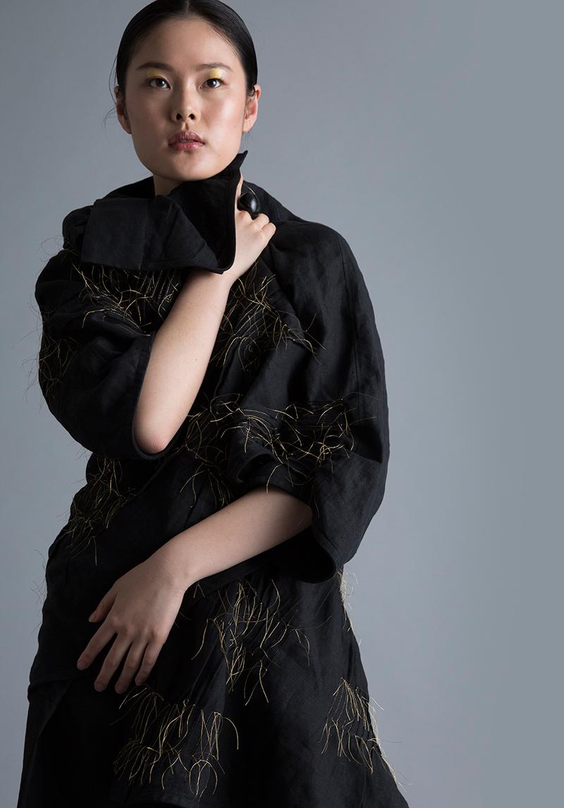 Amy Nguyen Textiles - Kintsugi - Sculptural Swing Coat