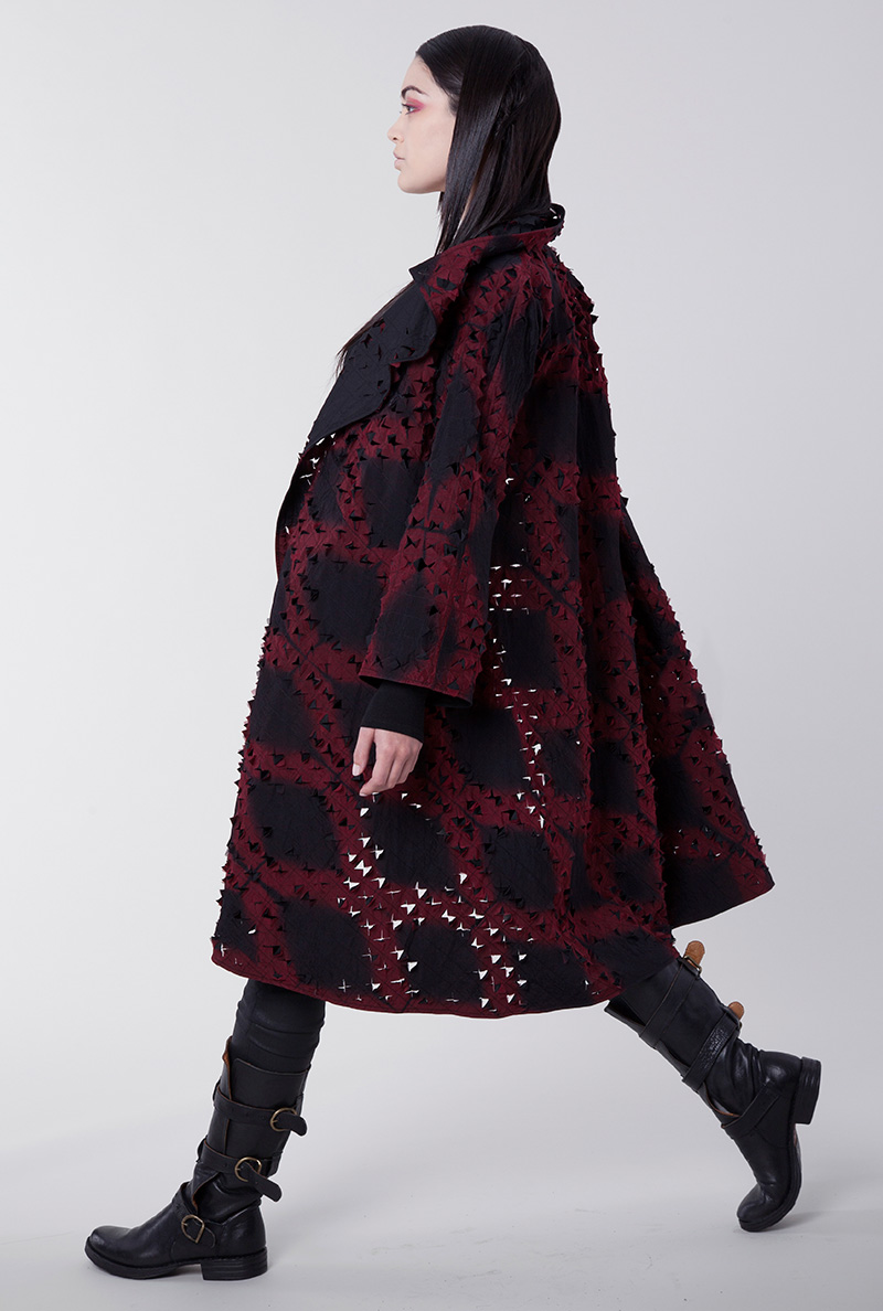 Amy Nguyen Textiles - Shibui - Cutwork Long Swing Coat